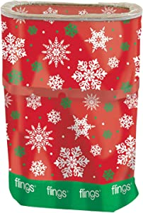 Christmas Red Snowflake Fling Bin | Party Supply