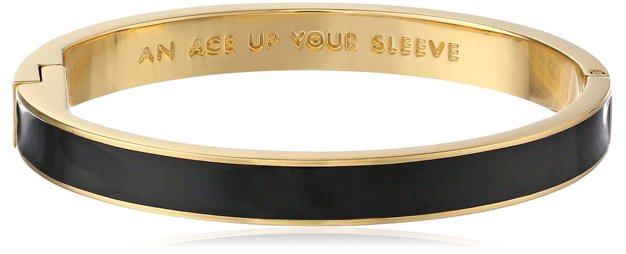 Kate Spade New York Idiom Bangles Ace Up Your Sleeve Hinged Bracelet