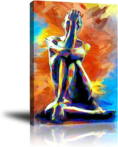 Wall decor Premium Canvas Wall Art, Abstract Art Modern Decorative Artwork for Bedroom Home Office Framed Ready to Hang 16x20inch Beautiful Dancer Nude Girl