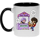 Mug Manga - Parodie Saint Seiya / Chevaliers du Zodiaque - Réparations Tous Métaux ! - Mug Noir - Haute Qualité (141)