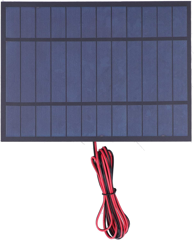 SALUTUYA 170 x 230mm 6V 6W Solar Power Tool Supplies Solar Power Epoxy Board Polysilicon for Solar Landscape Lights for Researching Solar Energy