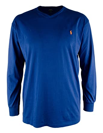 74718e876bf24 Polo Ralph Lauren Mens Big & Tall Heathered Long Sleeve T-Shirt | Amazon.com