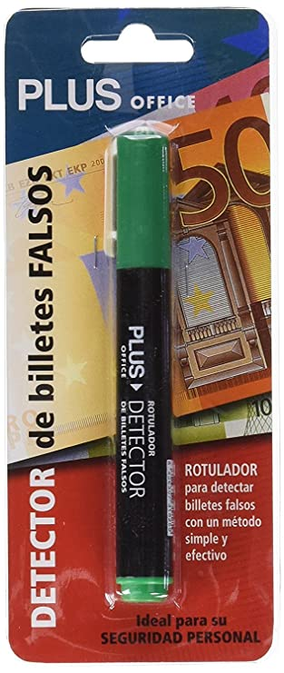 1x Rotulador Plus Office Detector Verificador de Billetes Falsos de Euros: Amazon.es: Electrónica