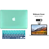 Protector Funda Case para Macbook + Protector Skin Cover de Teclado en Español + Webcam Cover AntiSpy Verde Degradado Macbook Pro 13'' Model: A1278