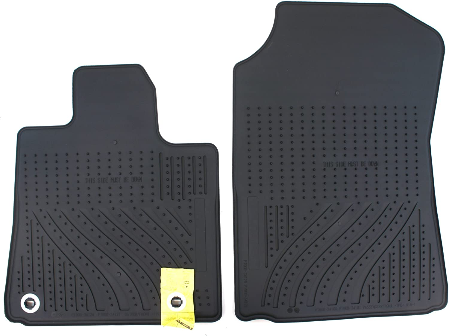 Passenger /& Rear Floor 2010 2012 2013 2011 GGBAILEY D3926A-S1A-BLK/_BR Custom Fit Car Mats for 2009 2014 Acura TSX Sedan Black with Red Edging Driver