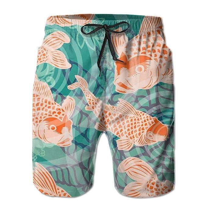 Amazon.com: FORGAD - Bañador corto para hombre Koi Fish de ...