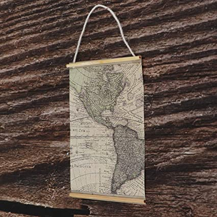 1:12 dollhouse miniature hanging wooden wall sign decor
