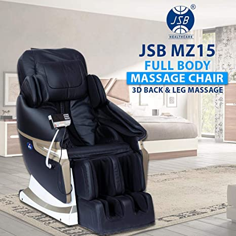 Image result for JSB MZ15 Full Body Massage Chair with Powerful 3D Back and Leg Massage (Black)
