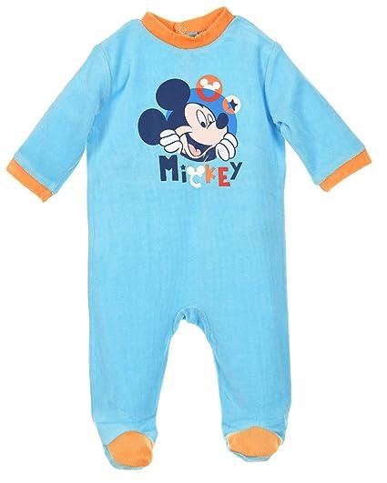 Pijama bebé niño Disney Mickey azul y gris de 3 a 23 meses gris gris/azul Talla:3 meses: Amazon.es: Bebé