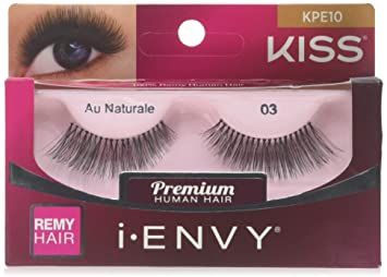 cf3c880cdd4 Amazon.com : KISS I.ENVY AU NATURALE 01 STRIP LASHES KPE10 : Fake Eyelashes  And Adhesives : Beauty