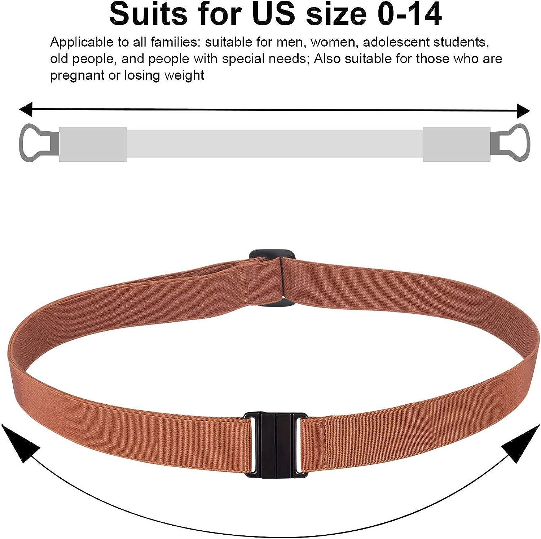 Jovitec 3 Pieces Stretch Belt Adjustable Invisible Elastic Belt No Show Web Belt Family Waist Belt for Women Men Kids