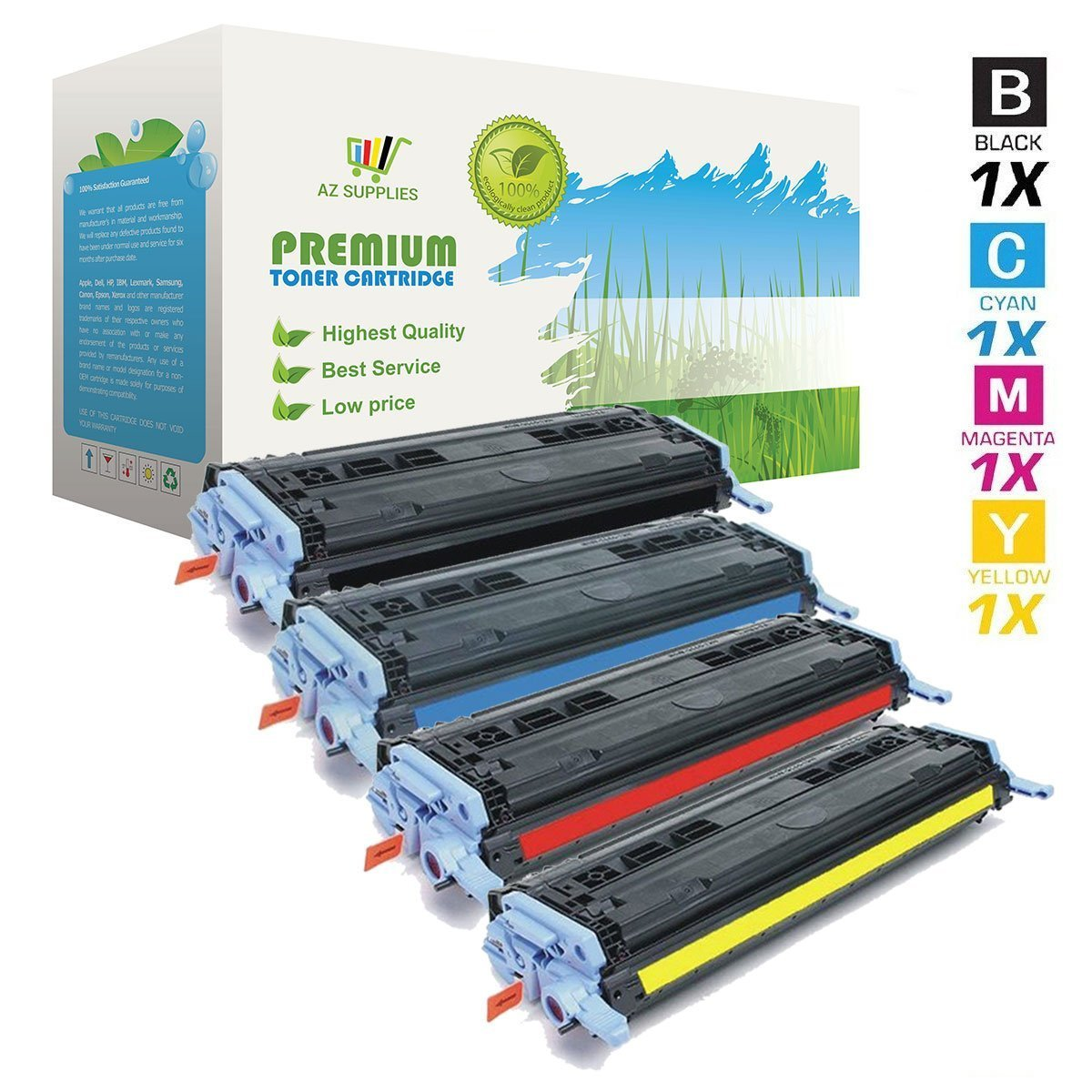 Amazon.com: Toner Set Q6000 A 6001 6002 un 6003 A para HP ...
