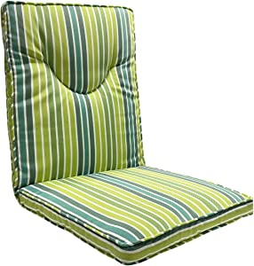 FBTS Prime Outdoor High Back Chair Cushions 42.5x19 Inch Green Stripe Lounger Patio Chair Pads for Outdoor Patio Furniture Garden Home Office