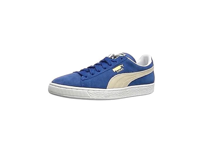 Puma Suede Schuhe Erwachsene Damen Herren blau (Olympian Blue) m weißem Streifen