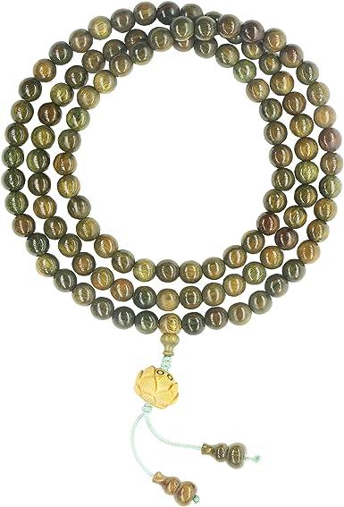 108 Prayer Beads Bracelet Wooden Sandalwood Beads Meditation Yoga Mala Buddhist Beads Relieve Anxiety Wooden Beads Necklace Green Beads Red Beads Necklace
