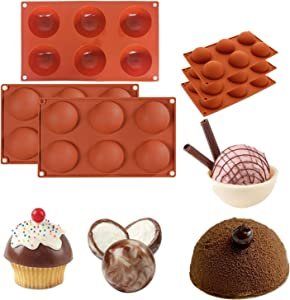 Large Semi Sphere Silicone Mold, 3 Packs Baking Mold for Making Hot Chocolate Bomb, Cake, Jelly, Dome Mousse