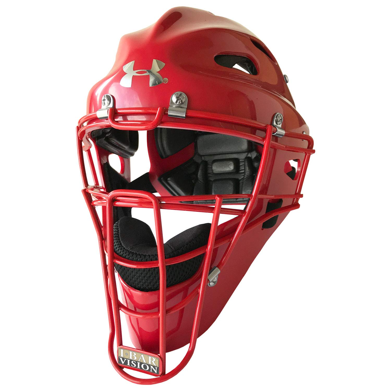 Under Armour Youth Solid Baseball/Softball Catcher's Helmet by Under Armour