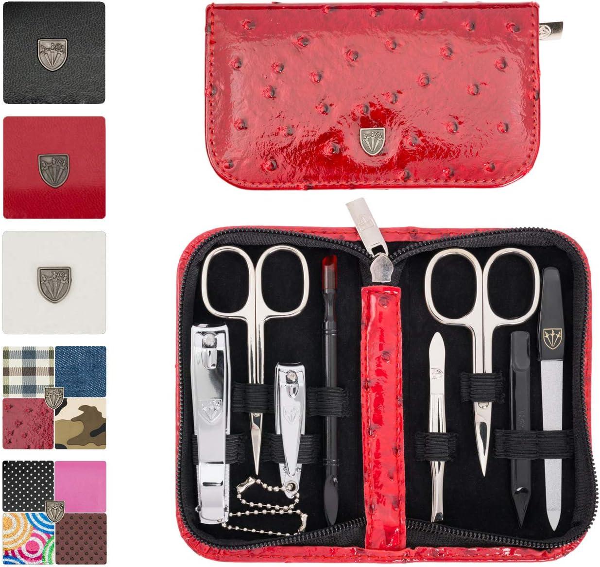 3 Swords Germany - Set para el cuidado de las uñas ´Salamanca` de viaje con estuche para manicura y pedicura - Calidad de marca by 3 Swords (7650): Amazon.es: Belleza