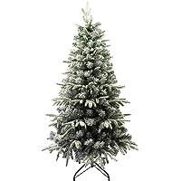 Árbol de Navidad Flocado con Copos de Nieve