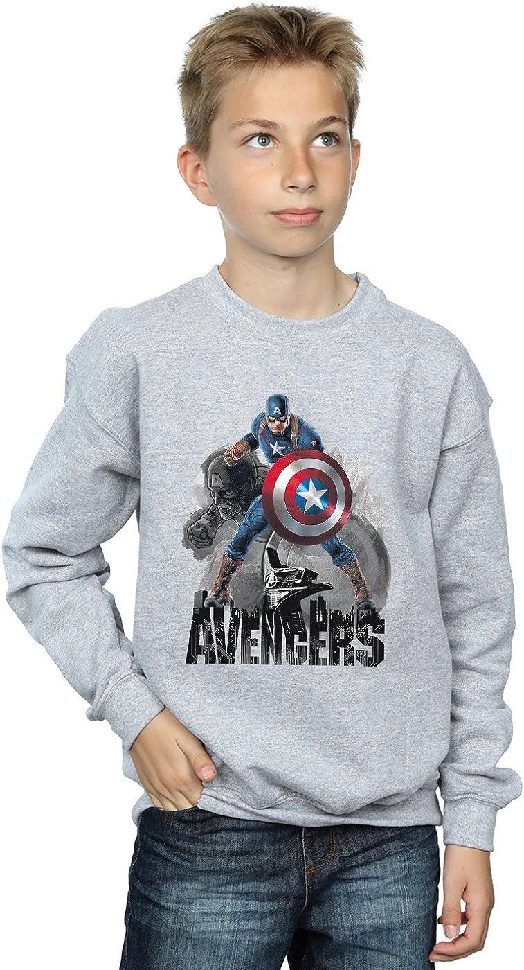 Marvel Jungen Captain America Action Pose Sweatshirt