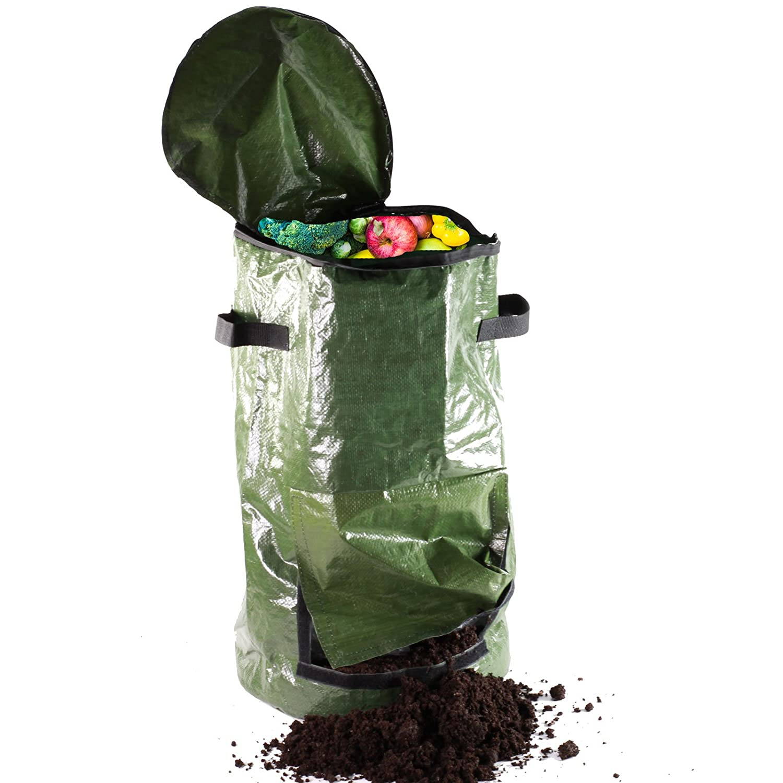 Compostador – Cubo de cocina para restos – verde, mediano, 59 cm ...