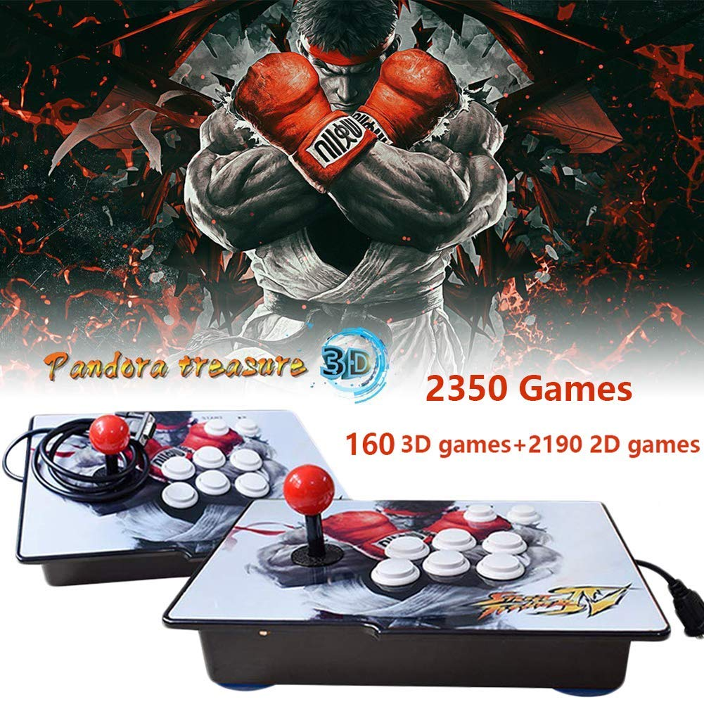 PinPle Arcade Game Console 1080P 3D & 2D Games 2350 2 in 1 Pandora's Box 3D 2 Players Arcade Machine with Arcade Joystick Support Expand Games for PC / Laptop / TV / PS4 (KOF)