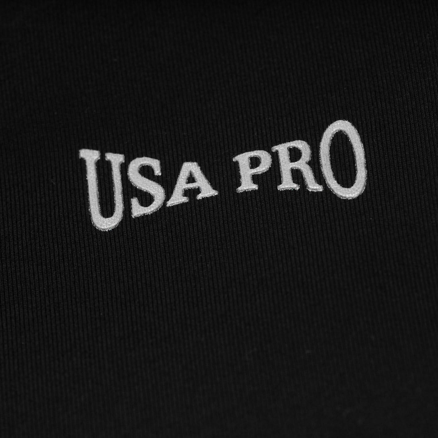 USA Pro Damen Training Leggings 3//4 Sporthose Fitness Capri Leicht Trainingshos