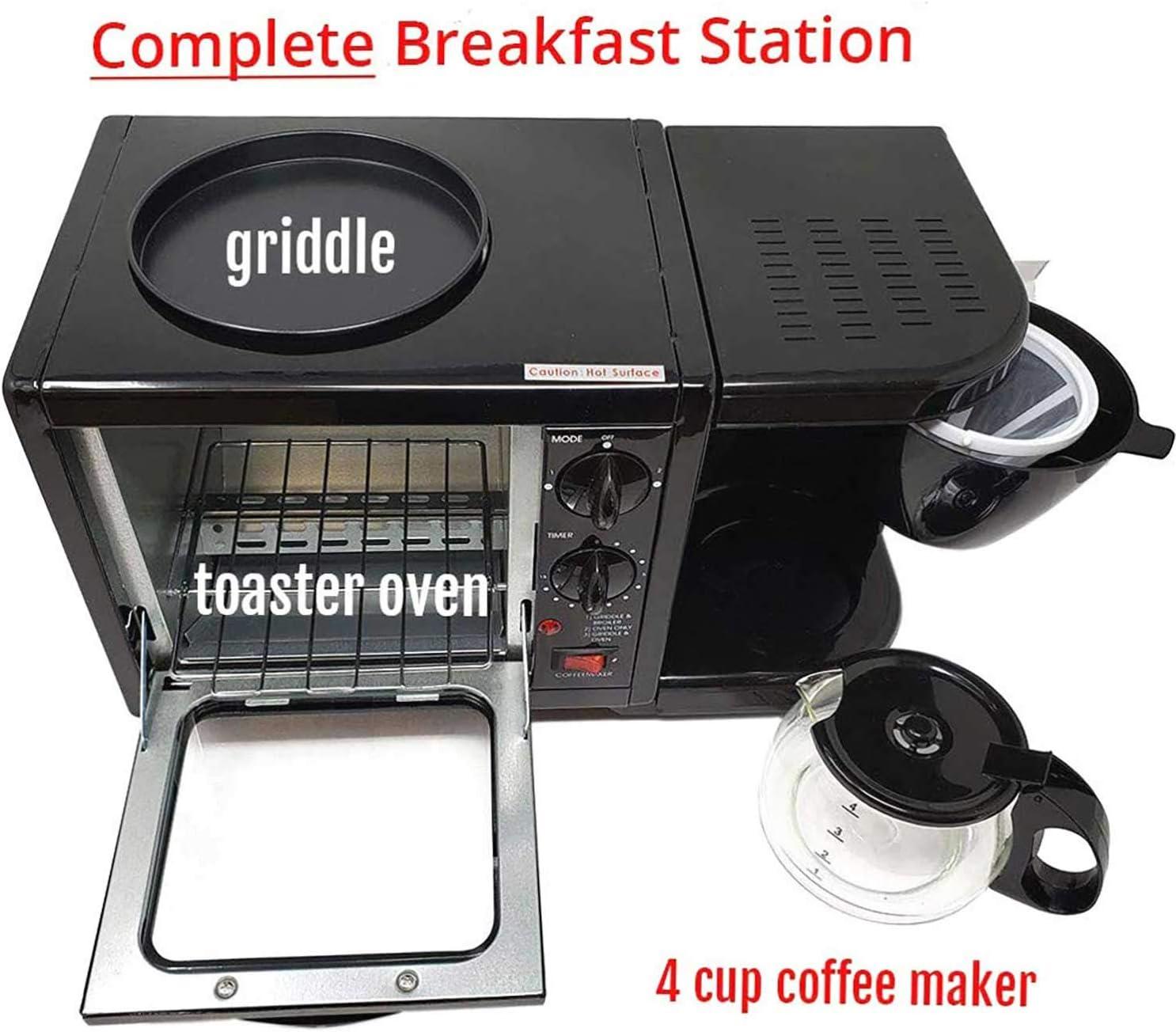 Amazon.com: Estación 3 en 1 para hacer desayunos, 500 W, 5 L ...