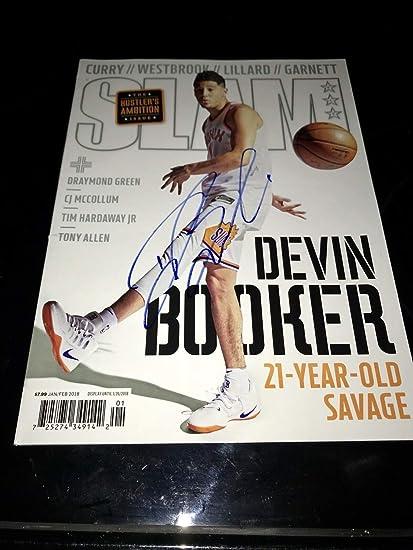 Devin Booker Autographed Signed Slam Magazine Phoenix Suns Autograph ... 536d9f68f