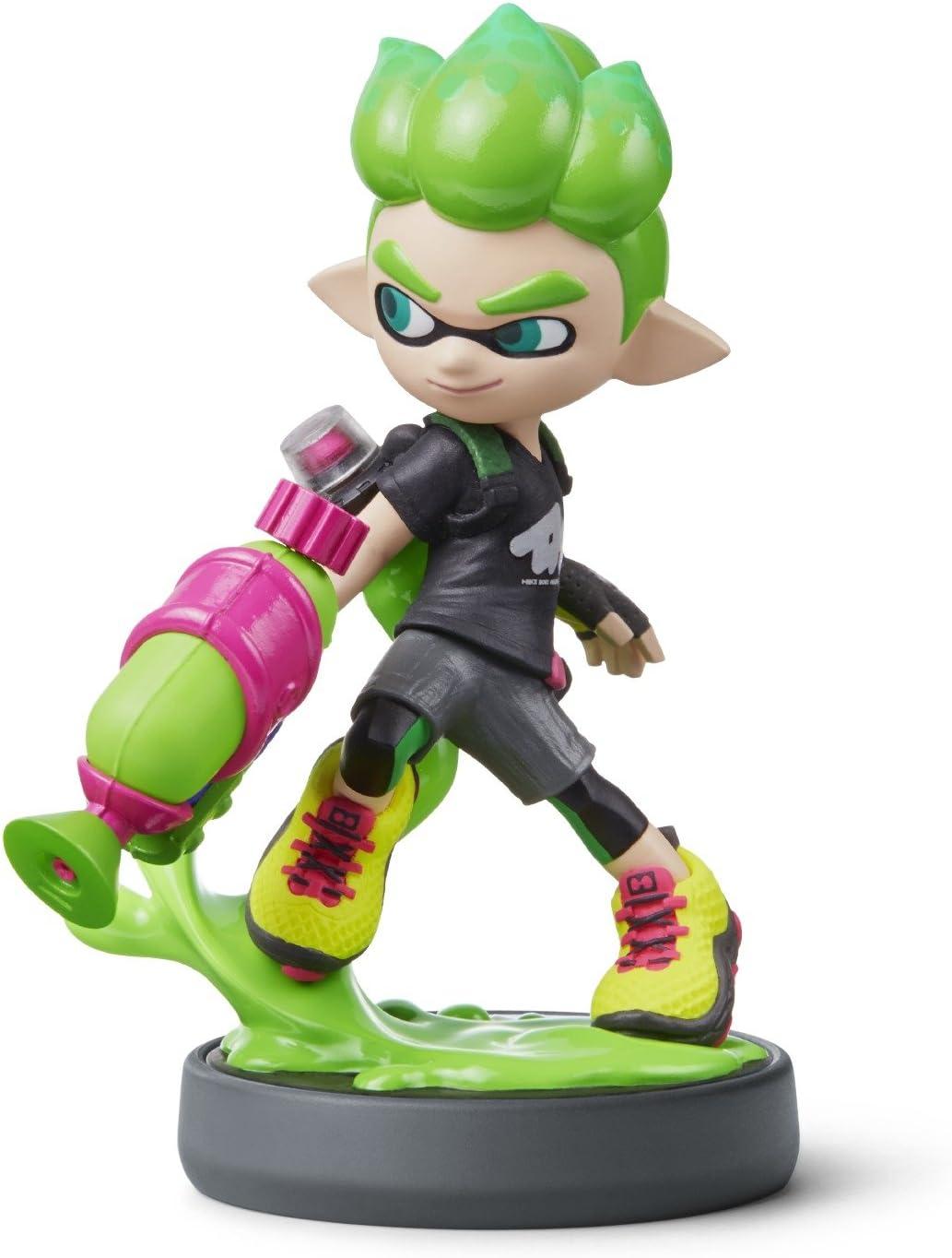 Amazon Com Nintendo Amiibo New Inkling Boy Neon Green Video Games