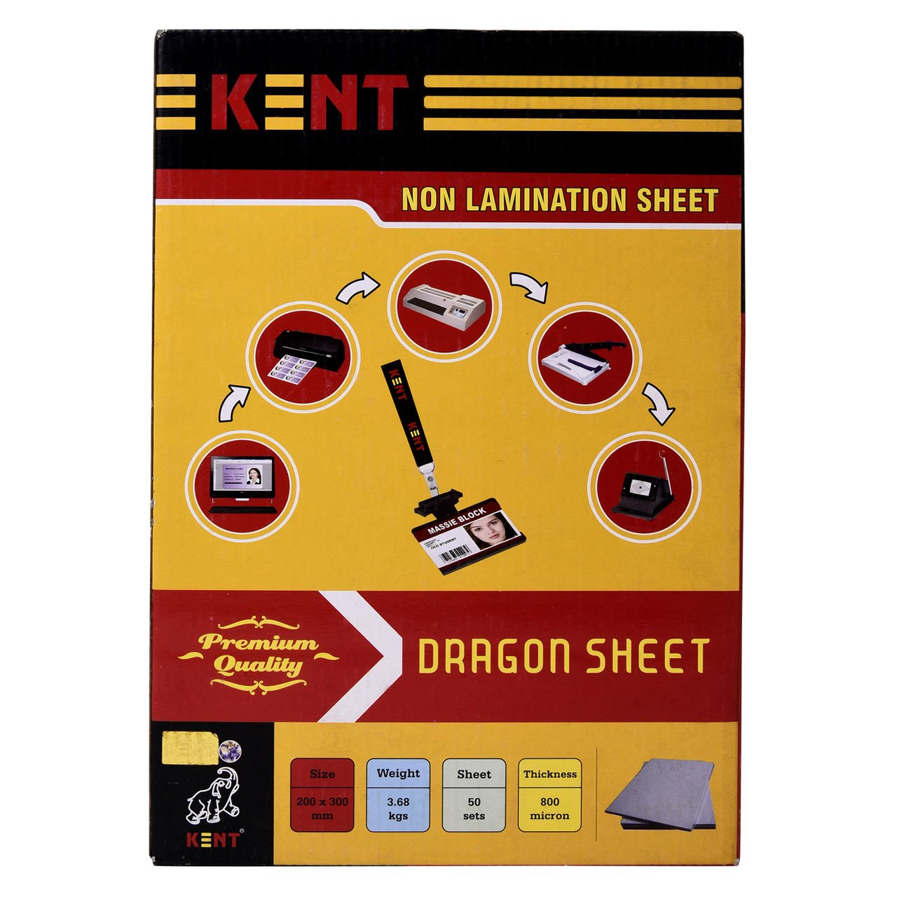 nilkanth enterprises white plastic non lamination sheet dragon
