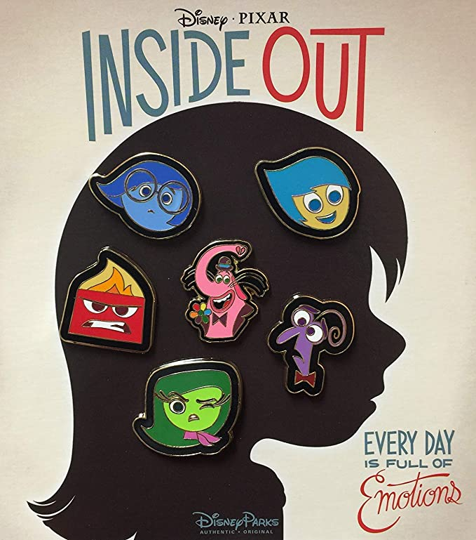Fear Disney Pixar Inside Out Magnets Joy Sadness Anger Bing Bong Mirrors Riley Pin Back Button Disgust
