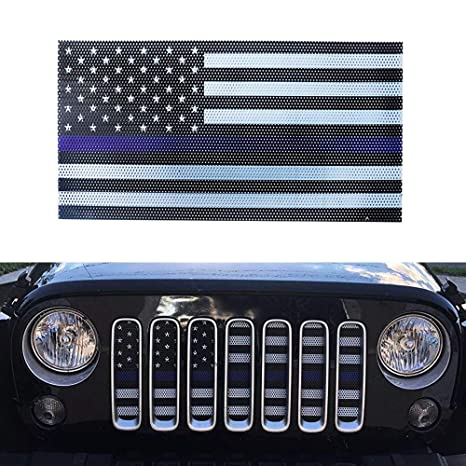 81db3f78 Image Unavailable. Image not available for. Color: MAIKER US American Flag  Front Grille Mesh Insert for 2007-2017 Jeep Wrangler JK &