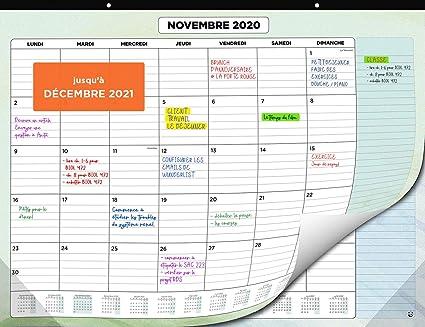 Calendrier Mural 2020 2021 par SmartPanda   Calendrier de Bureau