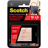Scotch Extreme Fasteners Clear 2.5cm x 7.6cm Strips RF9730 (Pack of 2)