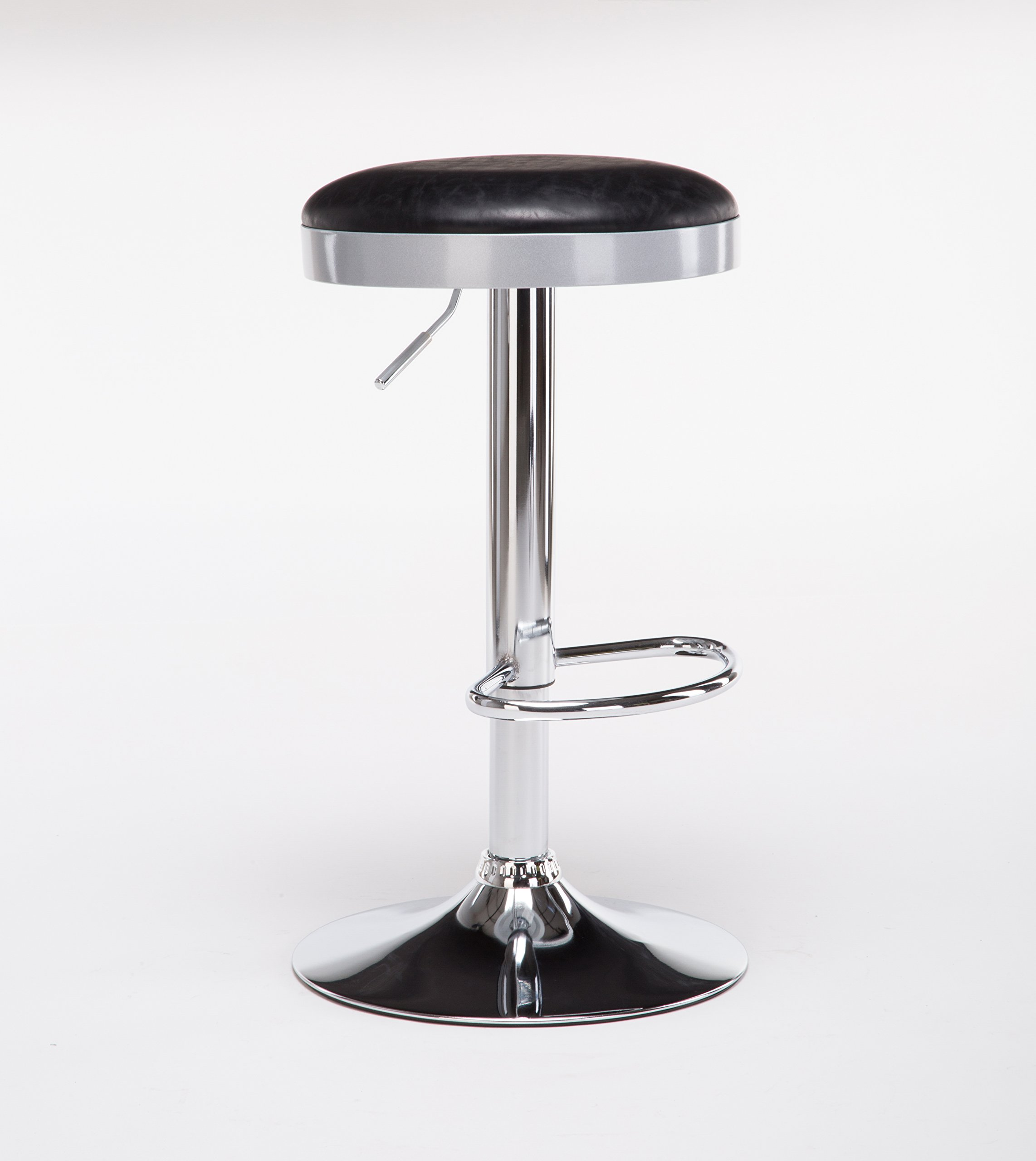 Boraam  Copley Backless Stool, 1-Pack, Adjustable Height, Black by Boraam (Image #2)