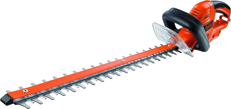 Black+Decker GT5560-QS Cortasetos (550 W) con Longitud de Espada de 60 cm y 25 mm de separación Entre Dientes