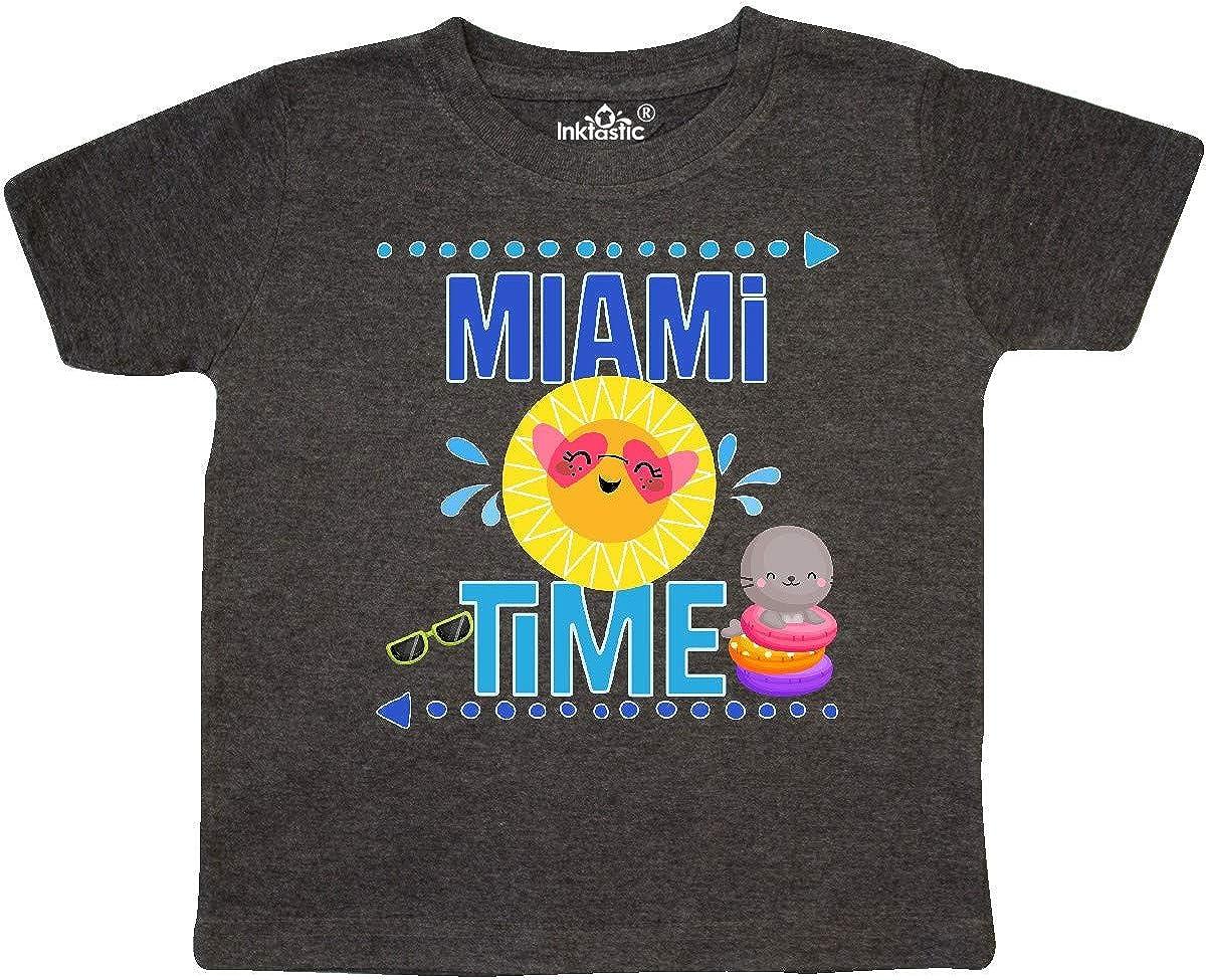 inktastic Miami Florida Vacation Gift Toddler T-Shirt