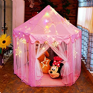 Otmake Princess Tent Indoor Easy Assemble Hexagon Play Tent For Children Princess Castle Play Tent Girls & Amazon.com: Otmake Princess Tent Indoor Easy Assemble Hexagon Play ...