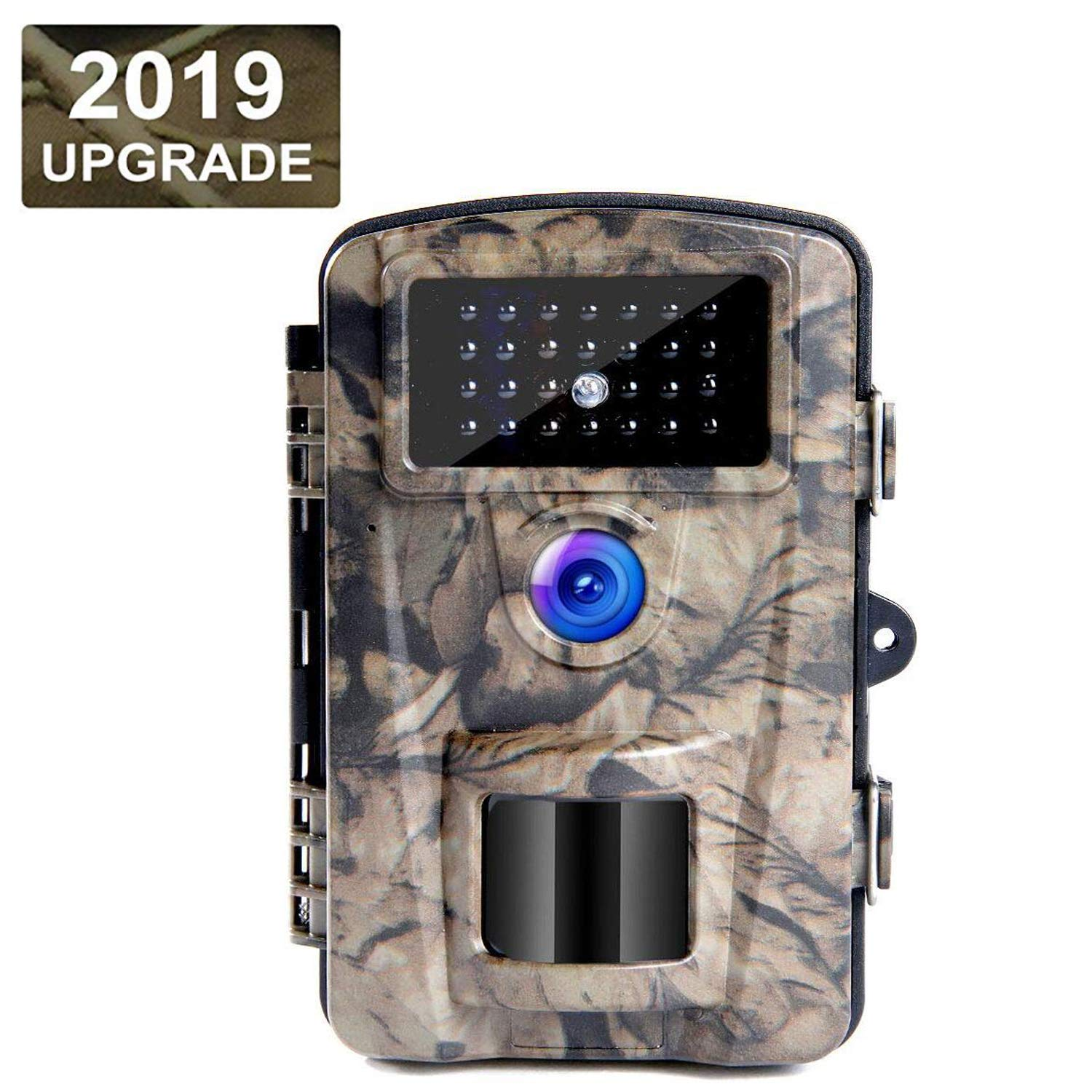 FUNSHION Trail Camera 12MP 1080P Trail Game Camera with 2.4Inch LCD IP66 Waterproof Night Vision Range 65 Feet Hunting Camera 0.2s-0.6s Triggering Time Wildlife Camera