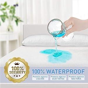 Adoric Mattress Protector Zippered Mattress Encasement Premium Waterproof Mattress Cover Twin Size Cotton Terry Surface-Vinyl Free