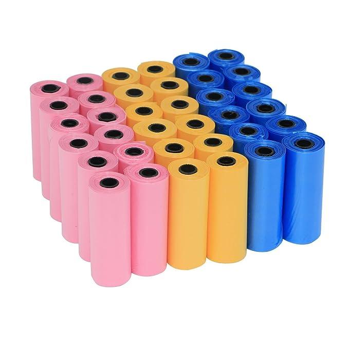 20 opinioni per Yommy® Sacchetti per bisogni dei cani 24/48/72 rotoli rolls, confezione da