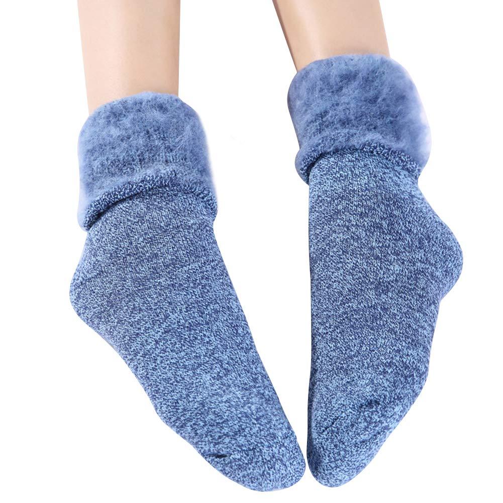 Amorar Calze a Maglia da Donna Termiche Calzini Invernali Pesanti Calze da Stivali Calze da Pavimentazione Antiscivolo Calzini da Coscia Scaldamuscoli