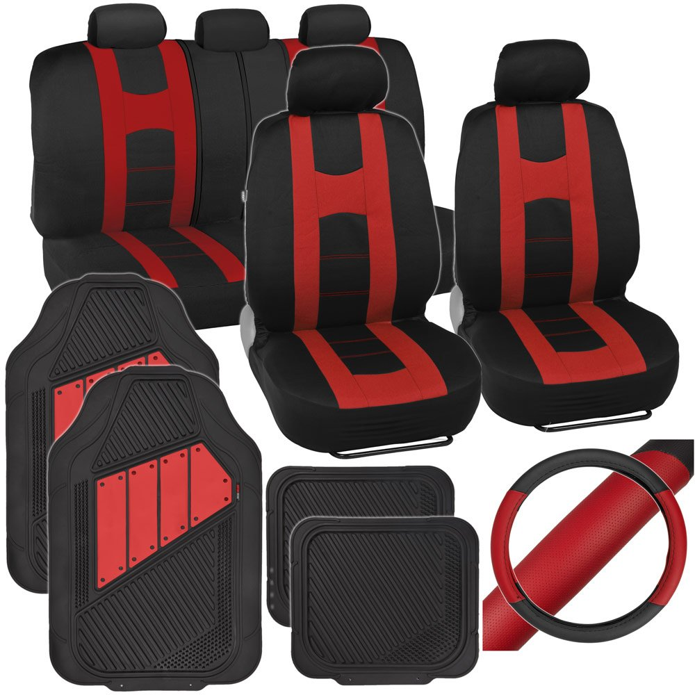Amazon PolyCloth Sport Seat Covers Rubber Floor Mats