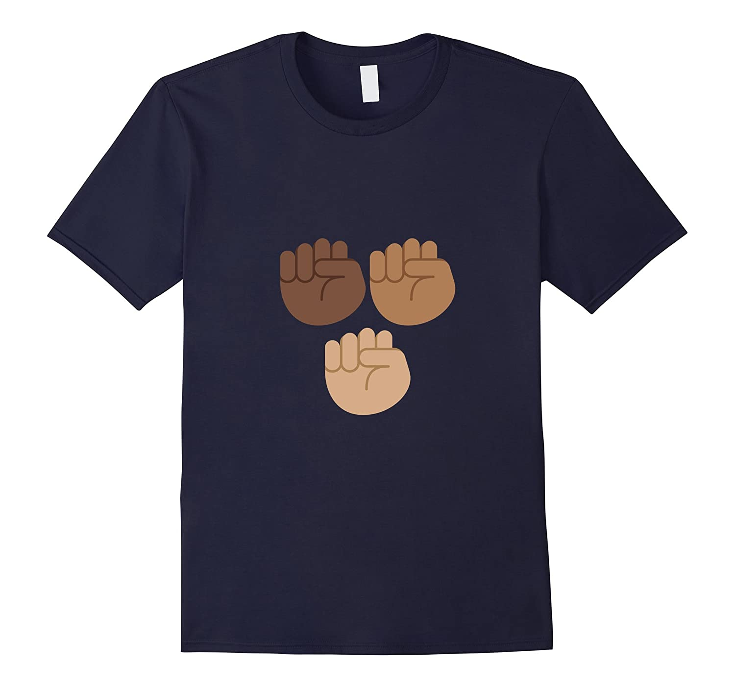 #BlackLivesMatter Three Raised Fists Emoji T-Shirt-Rose