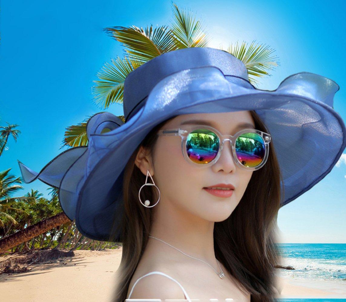 f0bd21b93eb Amazon.com   GPC Sunscreen Cover face Beach Beach hat Outdoor Folding Sun  hat Female Summer Sun hat Travel Wild Big hat