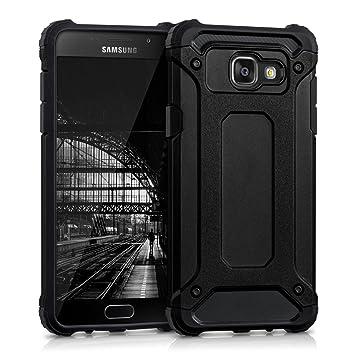 kwmobile Funda compatible con Samsung Galaxy A5 (2016) - Carcasa de [TPU] con diseño transformer en [negro]