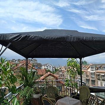 XLCZ 90% Vela de Sombra/Tela de Sombra del/Negro toldo Vela/Tela de Malla con Ojales, tamaño Completo, para Patio, pérgola, Invernadero, Granero, terraza Vela toldo: Amazon.es: Hogar