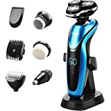 Ceenwes Electric Razor 7 in 1 Beard Trimmer Waterproof Man's Grooming Kit Hair Clippers Dry&Wet Nose Hair Trimmer Cordless Rechargeable Facial & Body Hair Trimmer for Men &Women