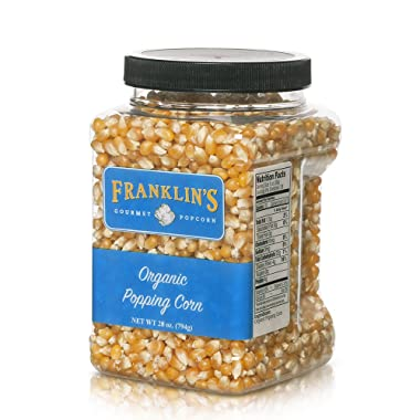 Franklin's Organic Popping Corn (28 oz). Make Movie Theater Popcorn at Home.
